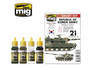 MIG peinture 7173 Set couleurs Republic of Korea Army 4 x 17ml