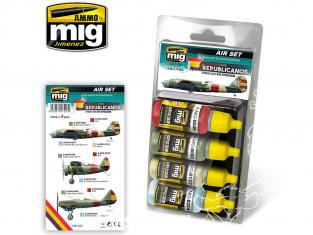 MIG peinture 7227 Set couleurs Guerre civile Espagnole - Républicains 4 x 17ml