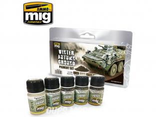 MIG weathering 7455 Set Pigments - Sol Hiver Automne 5 x 35ml