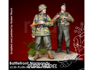 Rado miniatures figurines RDM35003 Champ de bataille Normandie - 12.SS-Pz.Div.HJ Ete 1944 1/35