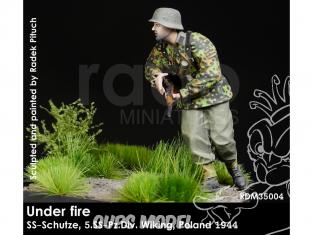 Rado miniatures figurines RDM35004 Sous le feu - SS-Schutze 5.SSPz.Div. Wiking Pologne 1944 1/35