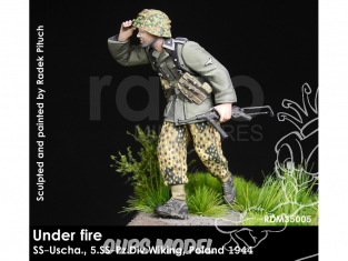 Rado miniatures figurines RDM35005 Sous le feu - SS-Uscha. 5.SS-Pz.Div.Wiking Pologne 1944 1/35