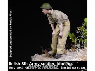 Rado miniatures figurines RDM35007 8ème Armée Britannique - Soldat penché Italie 1943-45 1/35