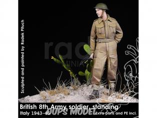 Rado miniatures figurines RDM35008 8ème Armée Britannique - Soldat debout Italie 1943-45 1/35