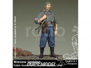 Rado miniatures figurines RDM35016 Insurrection de Varsovie - Polish Home Army - Chef d'escouade 1944 1/35