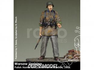 Rado miniatures figurines RDM35017 Insurrection de Varsovie - Polish Home Army - Rifleman w/Kar98k 1944 1/35