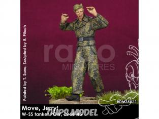 Rado miniatures figurines RDM35022 Bouge Jerry ! W-SS Tanker POW 1944-45 1/35