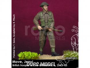 Rado miniatures figurines RDM35023 Bouge Jerry ! Soldat britannique w/Lee-Enfield No.4 1944-45 1/35