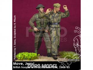 Rado miniatures figurines RDM35024 Bouge Jerry ! Soldat britannique w/W-SS Tanker POW 1944-45 1/35