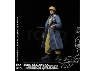 Rado miniatures figurines RDM35026 Les lions de Cassino - NCO 1.FJ Division Italie 1943-45 1/35