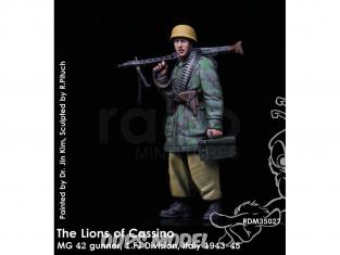 Rado miniatures figurines RDM35027 Les lions de Cassino - MG 42 Gunner 1.FJ Division Italie 1943-45 1/35