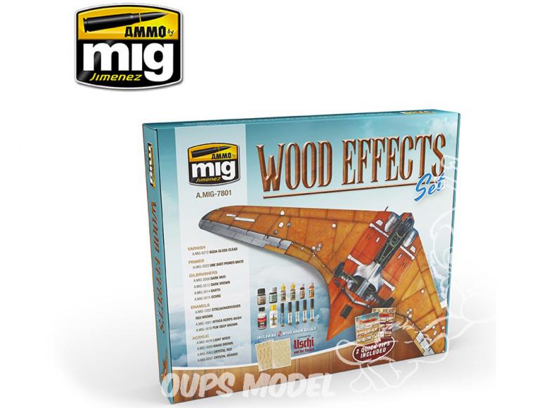 MIG set 7801 Set effets bois