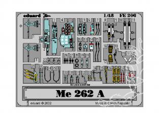 EDUARD photodecoupe avion FE206 Zoom Amélioration Messerschmitt Me 262A Schwalbe Tamiya 1/48