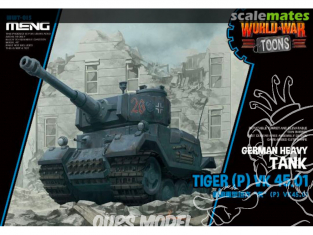 Meng maquette militaire WWT-015 Tiger (P) VK 45.01 SERIE WORLD WAR TOON