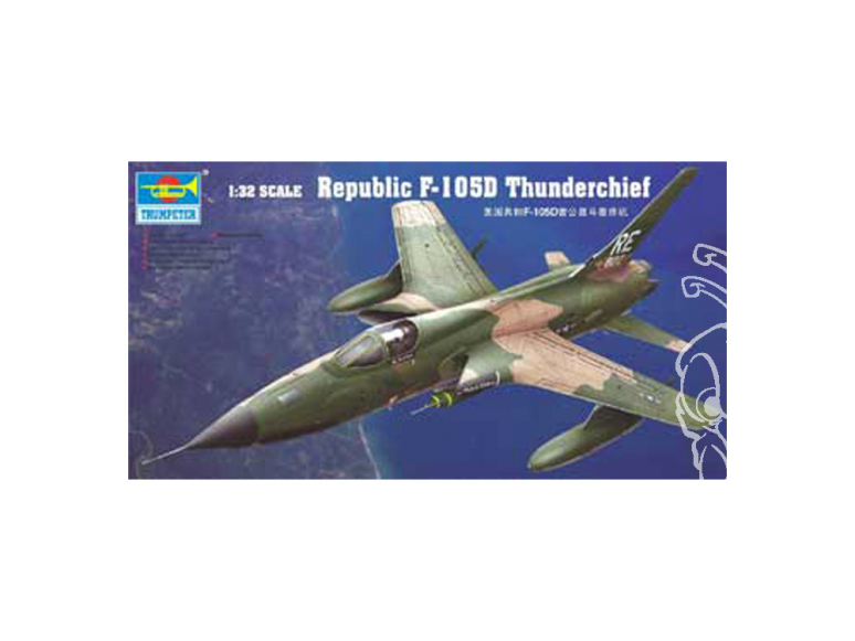 Trumpeter maquette avion 02201 REPUBLIC F-105D THUNDERCHIEF 1/32