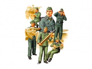 Hobby Boss maquette figurines 84407 Equipage Soldats allemands SPG 2 1/35