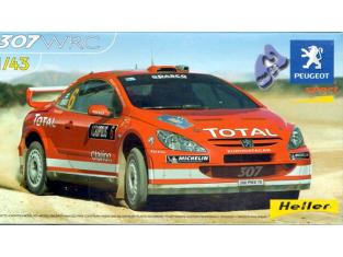 HELLER maquette voiture 80115 Peugeot 307 WRC 1/43