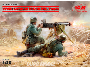 Icm maquette figurines 35645 2 figurines allemande et MG08 (100% nouveaux moules) WWII 1/35