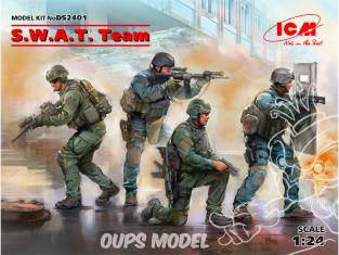 Icm maquette figurine 2401 S.W.A.T. Team (4 figures) 1/24