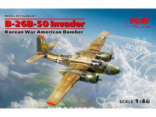 Icm maquette avion 48281 B-26B-50 Invader, bombardier américain de la guerre de Corée (100% de nouveaux moules) 1/48