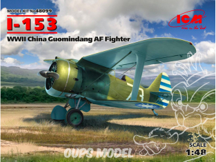 Icm maquette avion 48099 I-153 Combattant AF Guomindang de la Seconde Guerre mondiale en Chine 1/48