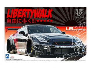 Aoshima maquette voiture 55922 Nissan GT-R R35 Type 2 Ver.2 LB Works Liberty Walk 1/24