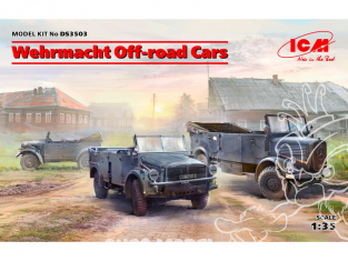Icm maquette militaire DS3503 Wehrmacht Off-road Cars (Kfz.1, Horch 108 Typ 40, L1500A) 1/35