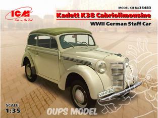 Icm maquette figurines 35483 Kadett K38 limousine cabriolet WWII German Staff Car 1/35