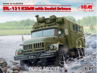 Icm maquette figurines 35524 ZiL-131 KShM avec conducteur soviétiques 1/35