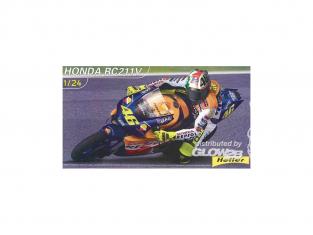 HELLER maquette moto 80923 Honda RC211V Valentino Rossi kit complet 1/24