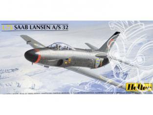 Heller maquette avion 80343 Saab Lansen A/S 32 1/72