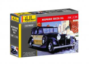 HELLER maquette voiture 56704 HISPANO SUIZA K6 ensemble complet 1/24
