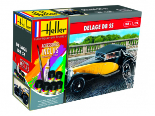 Heller maquette voiture 56720 Delage D8SS ensemble complet 1/24