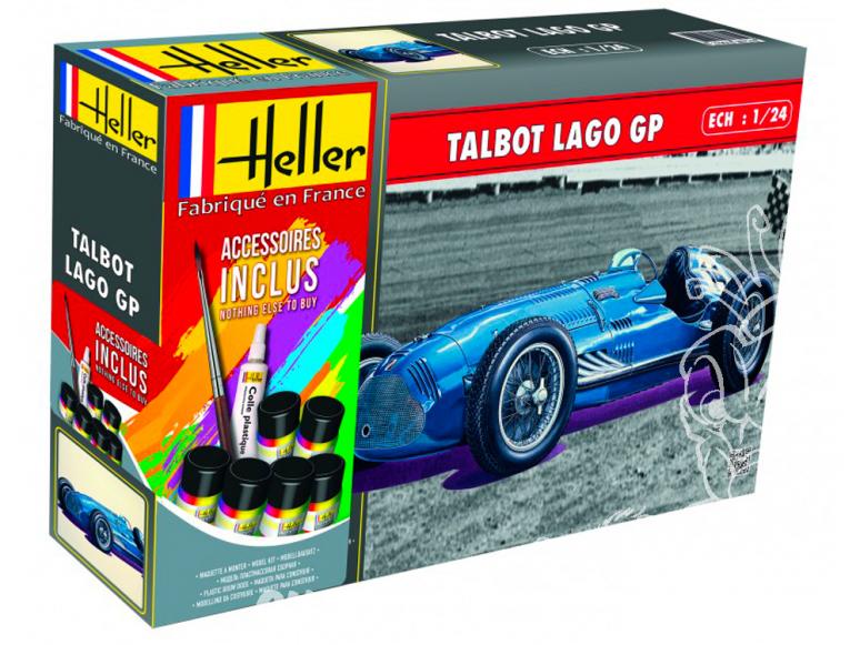 Heller maquette voiture 56721 TALBOT LAGO GP ensemble complet 1/24