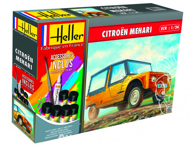 Heller maquette voiture 56760 Coffret Citroen Mehari 1/24