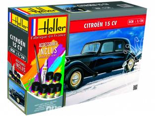 Heller maquette voiture 56763 Citoen 15CV ensemble complet 1/24