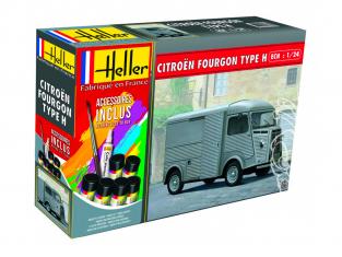 Heller maquette voiture 56768 Coffret Citroen fourgon Type H HY Tube 1/24