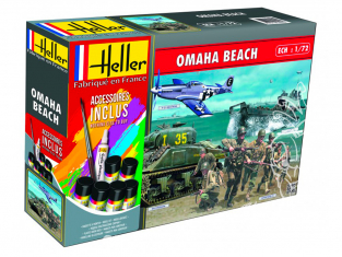 HELLER maquette militaire 53012 OMAHA BEACH kit complet 1/72