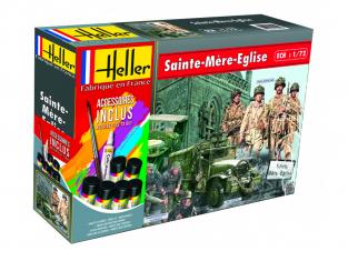HELLER maquette militaire 53013 SAINTE-MERE-EGLISE kit complet 1/72