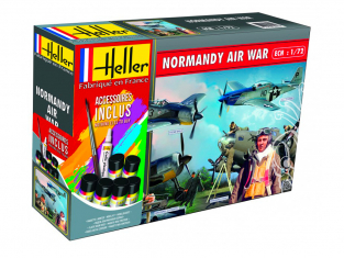 HELLER maquette avion 53014 NORMANDY AIR WAR kit complet 1/72