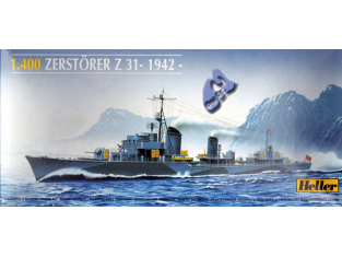 Heller maquette bateau 81010 Zerstorer Z31 1/400