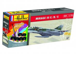 HELLER maquette avion 56323 Dassault Mirage III E/R/S kit complet 1/72