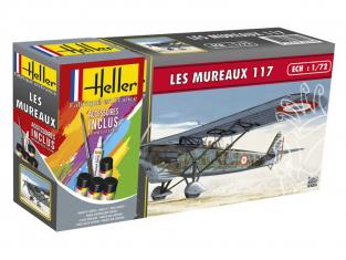 Heller maquette avion 56215 LES MUREAUX 117 ensemble complet 1/72