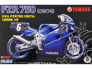 Fujimi maquette moto 141428 Yamaha FZR 750 OW74 1985 6 Sonauto 1/12