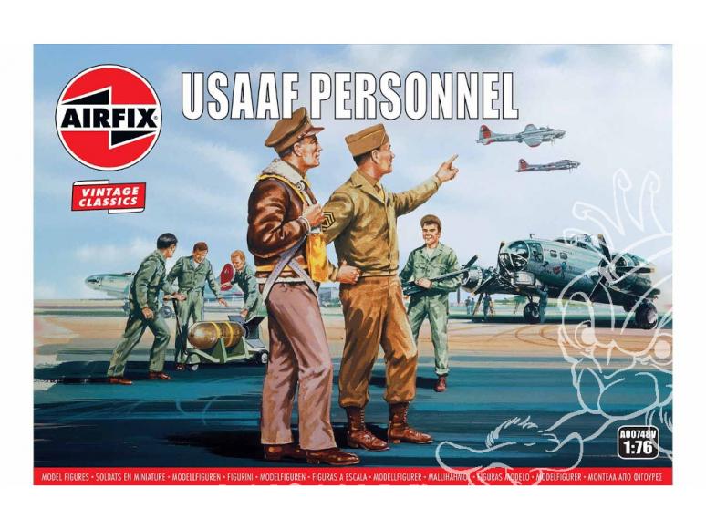 Airfix maquette figurine A00748V Vintage Classics USAAF Personnel 1/76