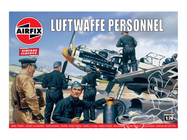 Airfix maquette figurine A00755V Vintage Classics Luftwaffe Personnel 1/76
