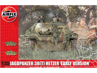 "Airfix maquette militaire A1355 JagdPanzer 38(t) Hetzer ""Early Version 1/35"