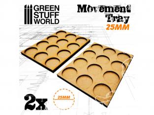 Green Stuff 502862 Plateaux de Mouvement MDF 25mm 3x4 - Hordes en Ligne