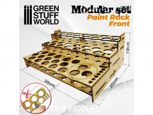 Green Stuff 503456 Présentoir Modulaire pour Peinture - FRONTAL