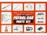 Fujimi maquette voiture 11105 Accessoires pour voitures Police / Patrouille 1/24